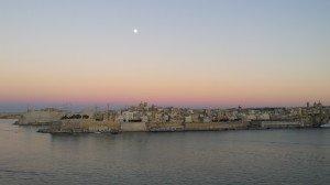 Le coucher de soleil sur l'ile de Malte
